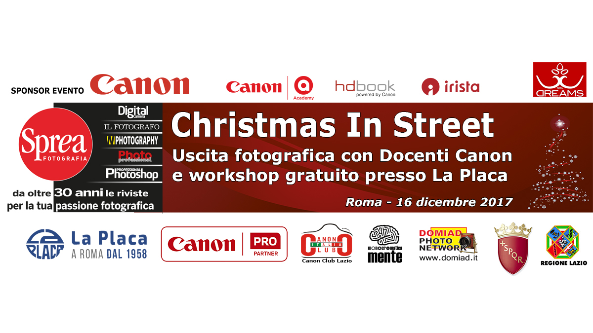 Evento di Natale: Street Photography, fotoreportage e storytelling – con la partecipazione ufficiale di Canon Italia e Canon Academy